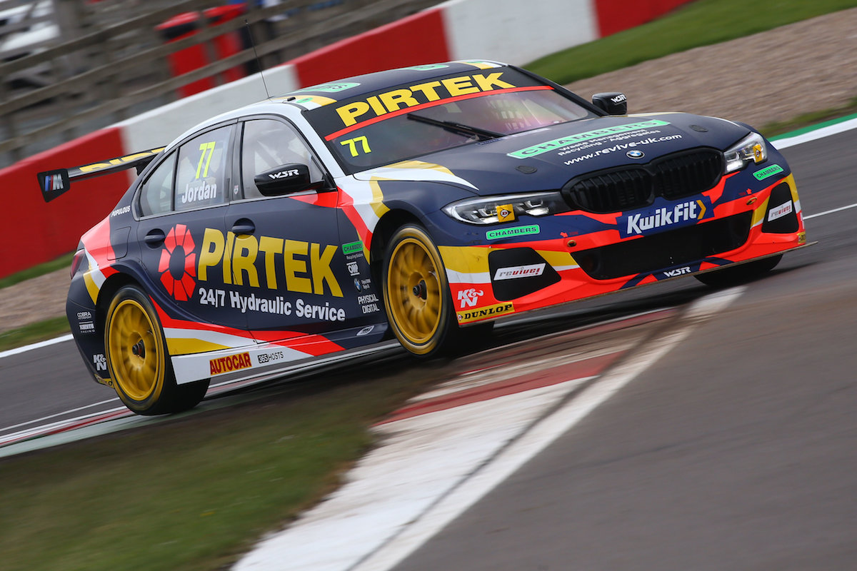 Home disappointment for Andrew Jordan at Donington Park