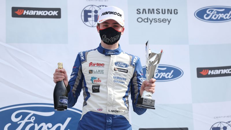 Double podium maintains Luke Browning's championship challenge at Brands Hatch
