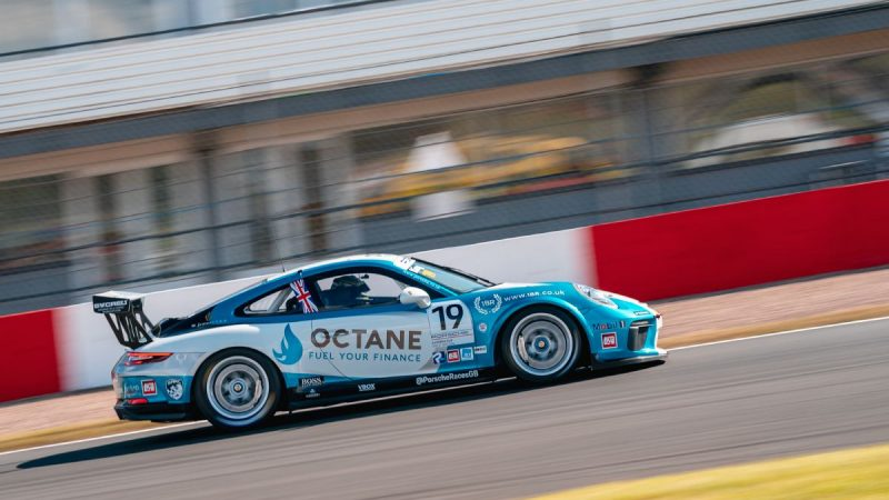 Octane Finance-backed Harry King storms to Porsche Carrera Cup debut win