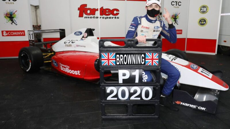 Luke Browning crowned champion in dramatic F4 finale