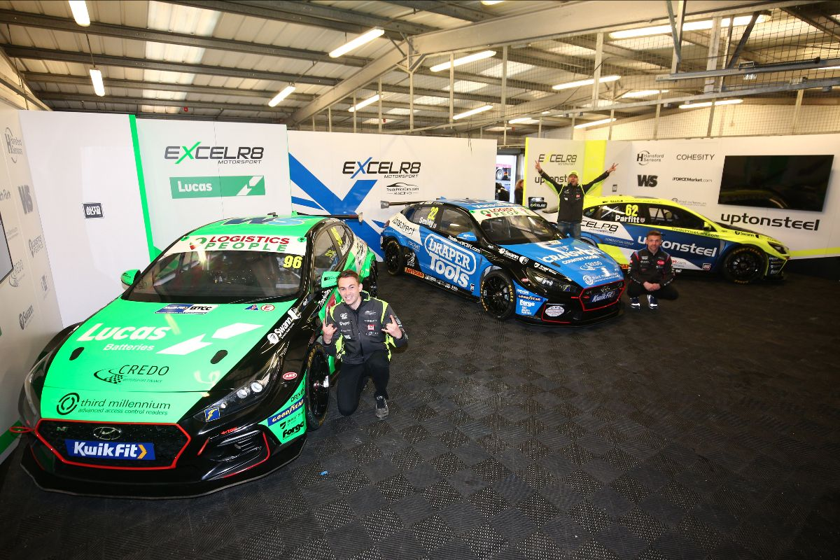 New look EXCELR8 with TradePriceCars.com hits the track for BTCC season launch