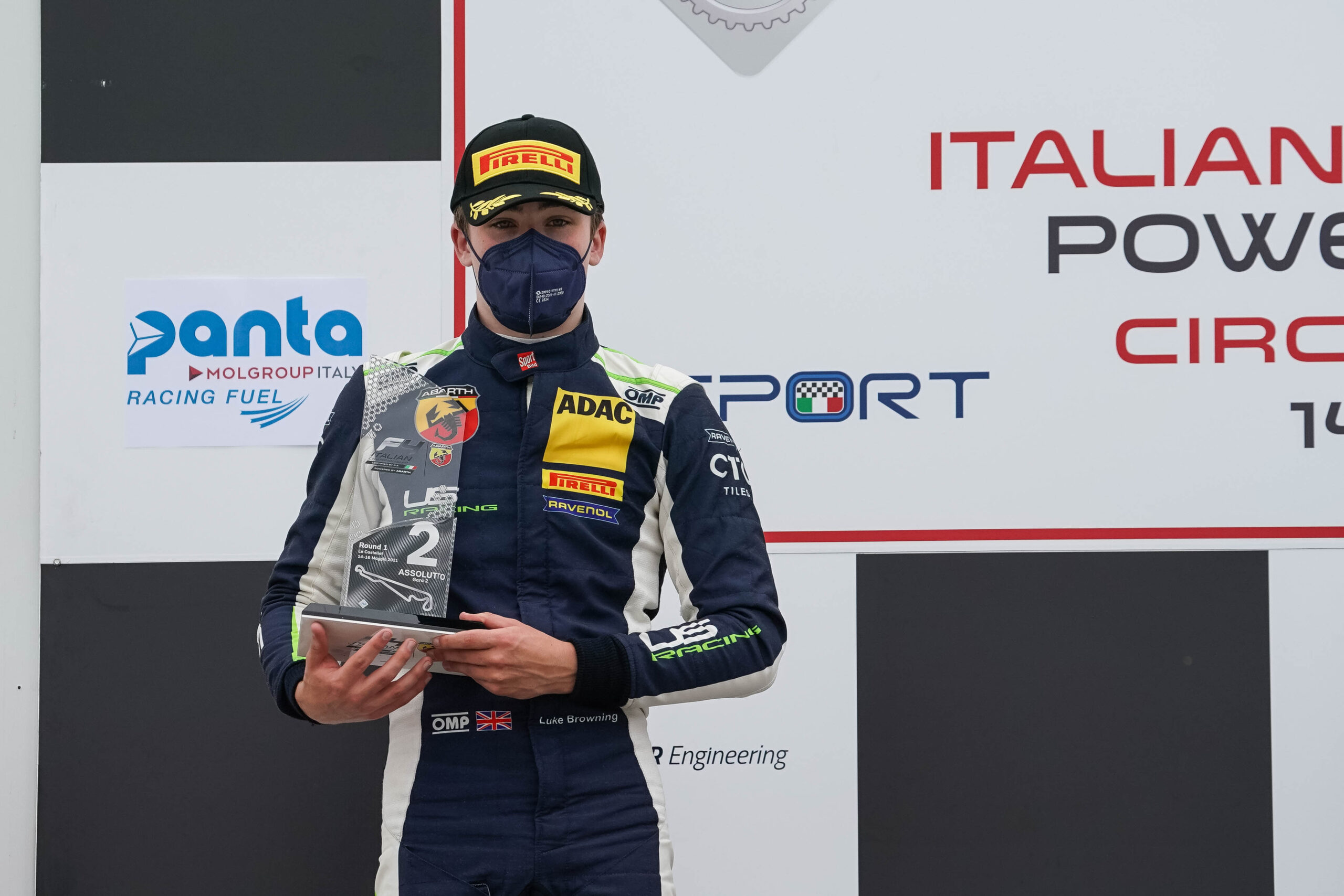 Luke Browning scores podium on European debut