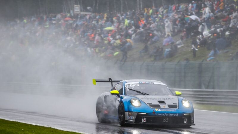 Wet pace unrewarded for Harry King at Spa