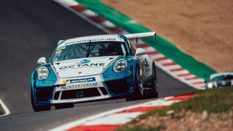 Harry King battles hard for Brands Hatch podium