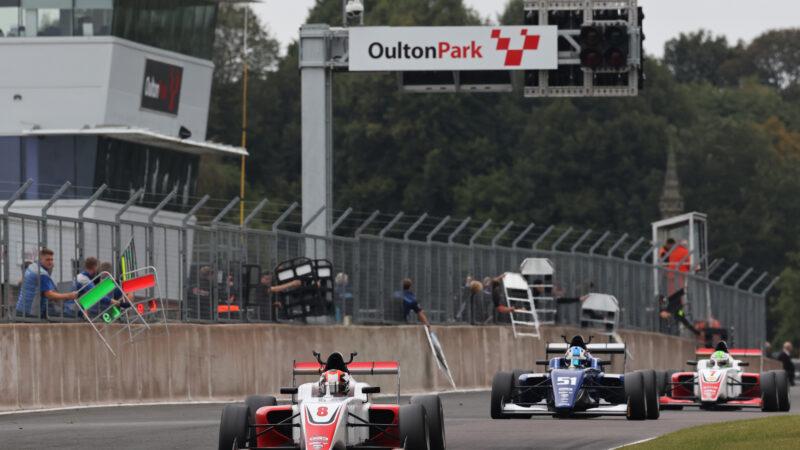Luke Browning celebrates British return with Oulton Park victory